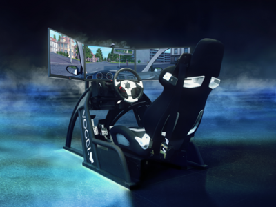 Fahren im Fahrsimulator